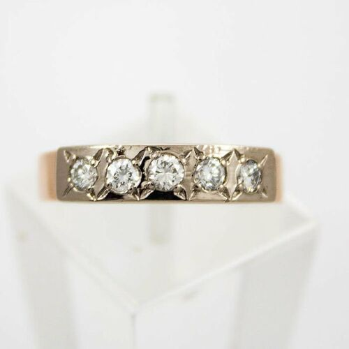 Pierścionki i obrączki, Złoty pierścionek z diamentami P1563