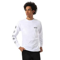 koszulka VANS - Mn Rowan Zorilla Faces Ls White (WHT) rozmiar: M