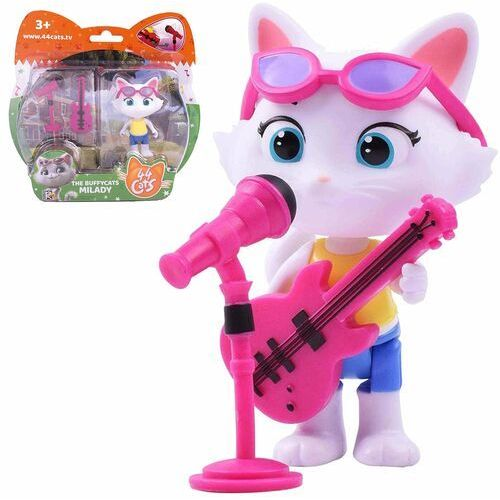 Figurki i postacie, Figurka 44 koty bajka milady z gitarą i mikrofonem na stojaku