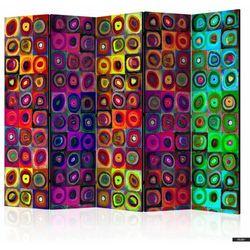 SELSEY Parawan 5-częściowy - Kolorowy abstrakcjonizm