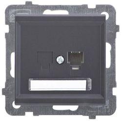 Gniazdo telefoniczne pojedyncze Czarny metalik - GPT-1R/m/33 Sonata
