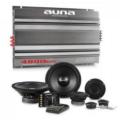 Auna CS-Comp-8 kompletny zestaw głośników samochodowych z 6 -kanałową końcowką mocy & 6-kanałowa końcówka mocy