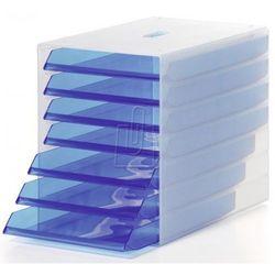 Pojemnik z 7 szufladami Durable Idealbox przezroczysty niebieski 1712000540