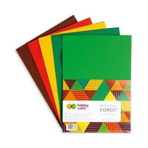 Pozostałe artykuły szkolne, Tektura falista A4/5K mix Forest HAPPY COLOR