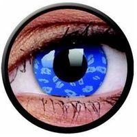 Soczewki kontaktowe, Soczewki kolorowe niebieskie BLUE LEOPARD Crazy Lens 2 szt.