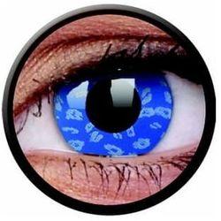 Soczewki kolorowe niebieskie BLUE LEOPARD Crazy Lens 2 szt.