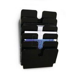Zestaw sześciu poziomych pojemników Durable FLEXIPLUS A4 czarny 1700014061