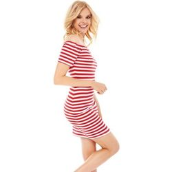 Sukienka Masha w biało-czerwone paski