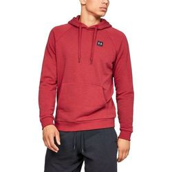 Under Armour Bluza z kapturem RIVAL FLEECE PO HOODIE Czerwona - Czerwony