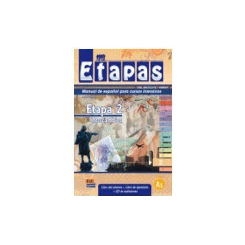 Książki dla dzieci, Etapas 2 Podręcznik + ćwiczenia + CD audio (opr. miękka)