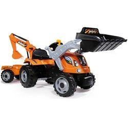 Smoby Traktor na pedały max z przyczepą, łyżką i koparką - BEZPŁATNY ODBIÓR: WROCŁAW!