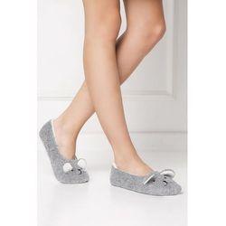 Pantofle Model Sweet Bear Grey - Aruelle