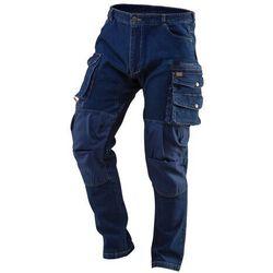 Spodnie robocze DENIM wzmocnienia na kolanach rozmiar S 81-228-S