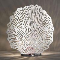 Lampy stołowe, Posrebrzana lampa stołowa Coral wysokość 51 cm