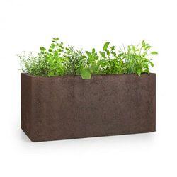 Blumfeldt Solid Grow Rust, pojemnik na rośliny, 80 x 38 x 38 cm, Fibreclay, kolor rdzawy