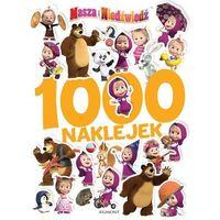 Książki dla dzieci, 1000 naklejek. Masza i Niedźwiedź (opr. broszurowa)