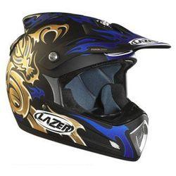 Kask Lazer MX6 Drake czarno niebieski mat