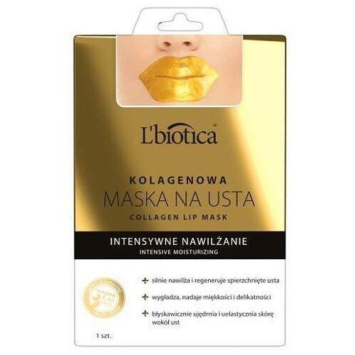 Maseczki do twarzy, L'Biotica Kolagenowa maska na usta intensywnie nawilżający płatek x 1 sztuka