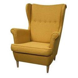 ••• Fotel Uszak Kamea żółty – WYBÓR KOLORU NÓŻEK – PROMOCJA – DARMOWA DOSTAWA •••
