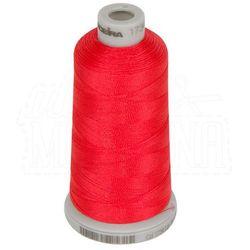 Nić do haftu Madeira Polyneon No.40 - 1000m, czerwony