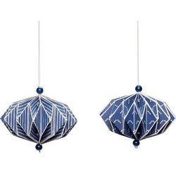 Ozdoby choinkowe hübsch ornament niebieskie 2 szt.