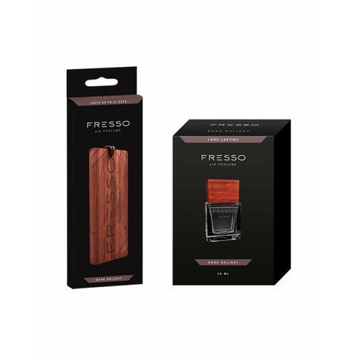 Pozostałe zapachy samochodowe, Fresso Dark Delight zestaw zawieszka + perfumy