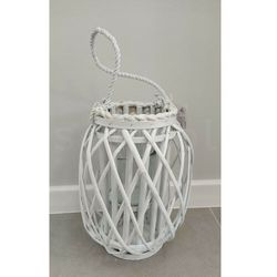 LUCIE WHITE Lampion h30x14cm