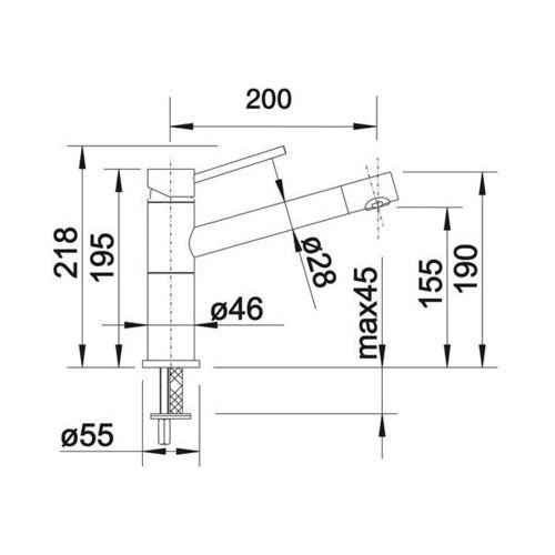 Baterie do kuchni, Bateria Blanco Alta compact 515316