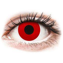 Soczewki kolorowe czerwone RED DEVIL Crazy Lens 2 szt.