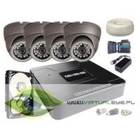Zestawy monitoringowe, Zestaw AHD, 4x Kamera HD/IR20, Rejestrator 4ch + 500GB
