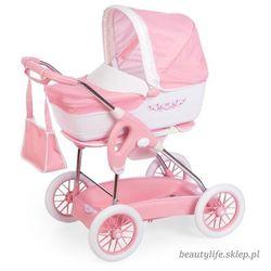 Wózek Głęboki Inglesina nosidełko dla lalek spacerówka 3 w 1 Smoby Piccolo Combi Różowy + Torba