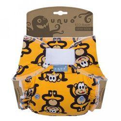 Unuo pieluszka wielorazowa One Size, Małpa - żółty - BEZPŁATNY ODBIÓR: WROCŁAW!