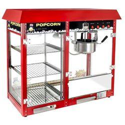 Maszyna do popcornu - witryna grzewcza - czerwona