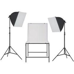 vidaXL Zestaw oświetleniowy softbox do studia ze stołem fotograficznym Darmowa wysyłka i zwroty