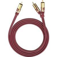 Kable video, Kabel audio, Cinch Oehlbach 20562, [2x Złącze męskie cinch - 1x Złącze męskie cinch], 2 m, czerwony