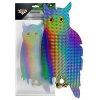 Środki na szkodniki, Odstraszacz ptaków sowa hologramowa SCARY OWL No Pest™. Sylwetka stojącej sowy