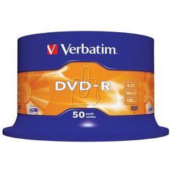 Płyty Verbatim DVD-R 4,7GB 16X Cake 50