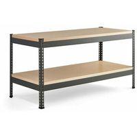 Stoły warsztatowe, Stół warsztatowy COMBO, utwardzana płyta, półka dolna, 1840x775x1530 mm