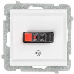 Gniazdo głośnikowe pojedyncze Czarny metalik - GG-1R/m/33 Sonata