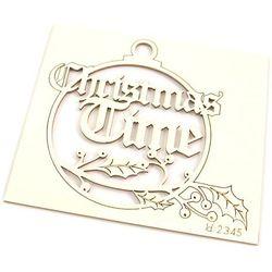 Dekoracyjna bombka z napisem Christmas Time