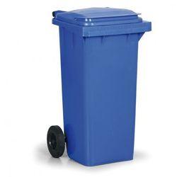 Plastikowy pojemnik na odpady CLD 120 litrów, niebieski