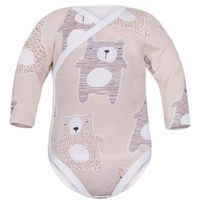 Body niemowlęce, Niemowlęce body KOPERTOWE długi rękaw Beżowe Koala