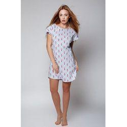 Koszula damska z wysokiej jakości bawełny, z krótkim rękawem Sensis Lipstick