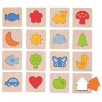 Pozostałe zabawki, Memo - rozpoznaję kształty Goki