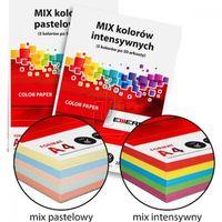 Papiery i folie do drukarek, Papier kolorowy MIX A4/80g 5 kol. pastelowe
