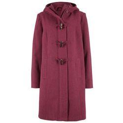 Płaszcz z materiału o wyglądzie wełny, z nadrukiem bonprix kawa lodowa-beżowo-szaro-czarny z nadrukiem