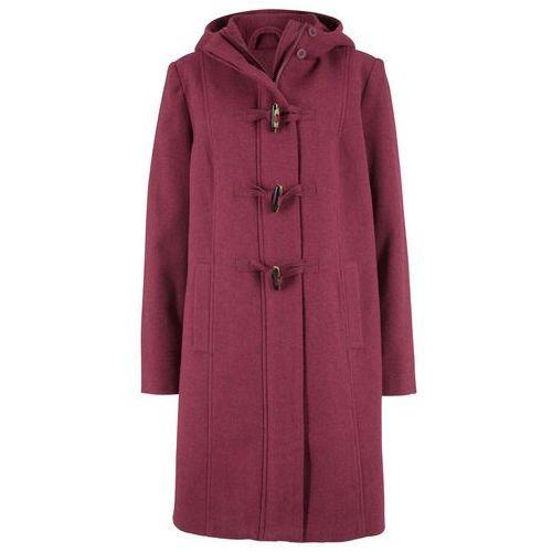 Płaszcze damskie, Płaszcz z materiału o wyglądzie wełny, z nadrukiem bonprix kawa lodowa-beżowo-szaro-czarny z nadrukiem