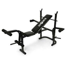 KLARFIT Ławka pod sztangę ze stojakiem, bicepsy, mięśnie nóg