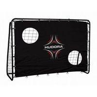 Piłka nożna, Bramka piłkarska FREEKICK HUDORA + mata 213 x 152 cm czarna
