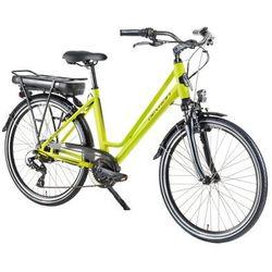 """Miejski rower elektryczny Devron 26122 - model 2018, Żółty, 18"""""""